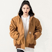 (J140) DUCK ACTIVE JACKET (QUILTED-FLANNEL LINED)-BRN